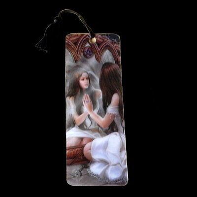 *MAGICAL MIRROR* Goth Fantasy Angel Art 3D Bookmark By Anne Stokes (15.5x5.5cm)