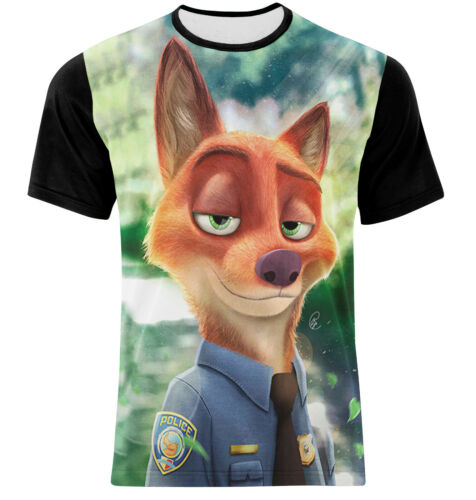 RELAX MAN BE COOL IT/'S ALL GOOD ZOOTOPIA  FRONT BACK ALL OVER PRINT TOP T-SHIRT!