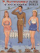 VINTAGE UNCUT 1949 BOARDING SCHOOL PAPER DOLLS HD~LASER ORG SZ REPRODUCTION~LO