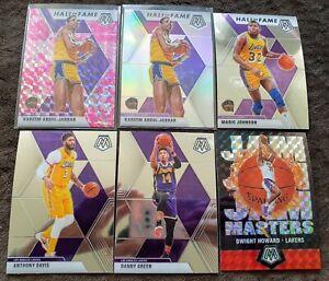 2019-20-Mosaic-Lakers-Lot-8-Kareem-Abdul-Jabbar-Pink-amp-Silver-Prizm-HOF