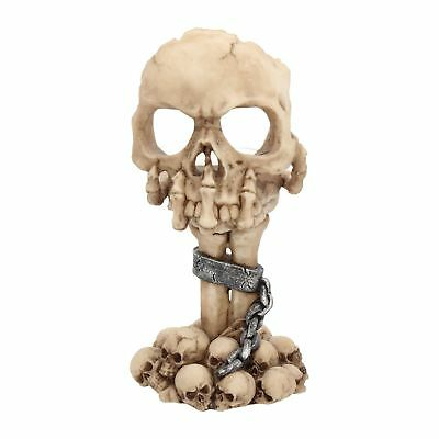 Totenschädel Skelett Teelichthalter Skull Gothic Halloween Dekoration Nn77 Zahlreich In Vielfalt