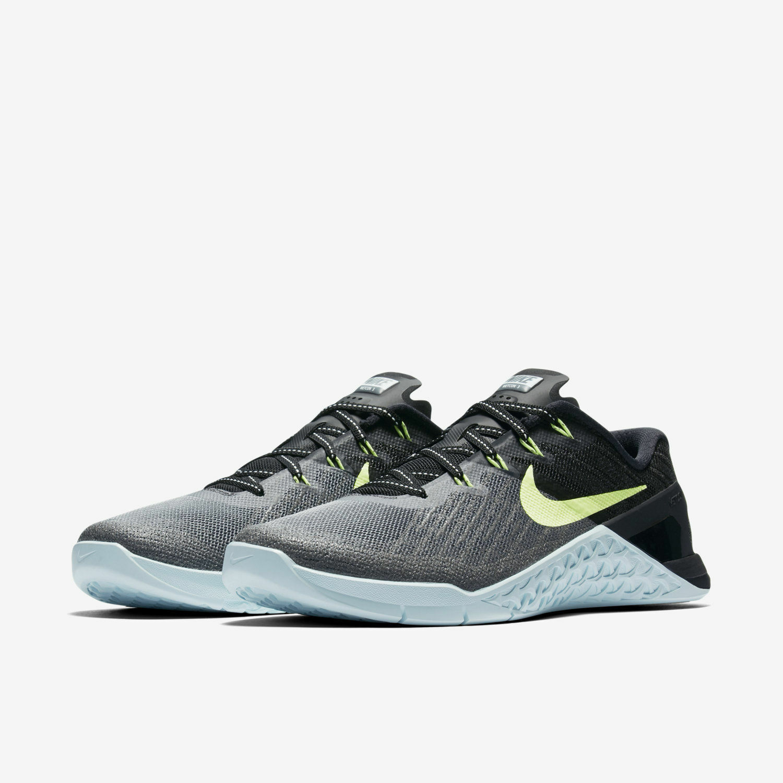 Nike Women Metcon 3 Dark Grey Ghost Green CrossFit Trainers 849807 003 Sz 12