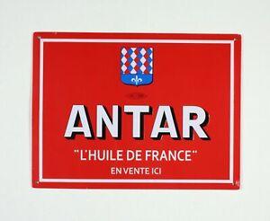 Plaque-publicitaire-ANTAR-L-039-huile-de-France-En-vente-ici