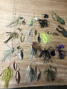 Lot Of (10) Spinner Baits/(3) Buzz Baits And (2) Spro Top Water Frogs