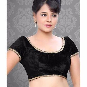 ad9446307206e7 Image is loading Readymade-Saree-Choli-Sari-Top-Black-Partywear-Designer-