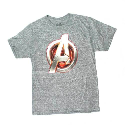 Marvel Comics Avengers Core Icon Charcoal A Logo Movie Mens Tee T Shirt
