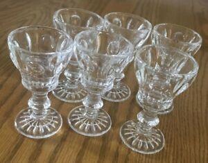 Glass-Goblet-Aperitif-Cordial-Liqueur-1-Ounce-Shot-Glasses-31-2-I-034-Tall-Set-6
