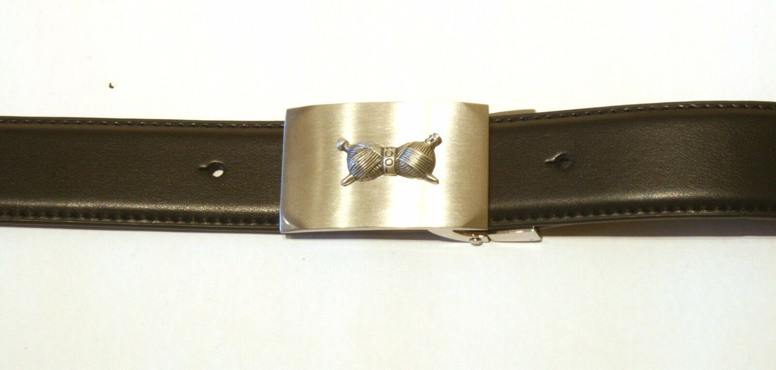 Knitting Needles Buckle and Belt Set Black Leather Ideal Knitting Gift 205