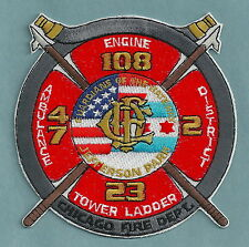 CHICAGO FIRE DEPARTMENT ENGINE 108 TOWER LADDER 23 COMPANY PATCH