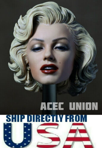 """SELLER 1//6 Marilyn Monroe Head Sculpt 2.0 Painted For 12/"""" Hot Toys Phicen U.S.A"""