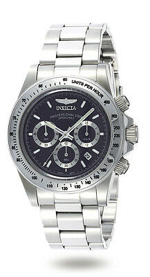 Invicta 9223 Men's Stainless Steel Speedway Chronograph Black Dial Diver