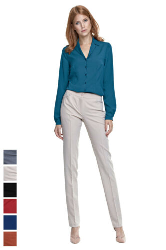 Piega Pantaloni Pantaloni Pantaloni da da donna da da Pantaloni donna ufficio lavoro d'ufficio P8STPwq