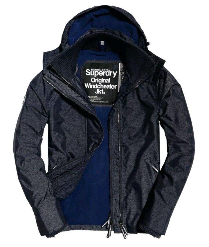 S196  superdry pop zip hooded arctic windcheater Größe S 36