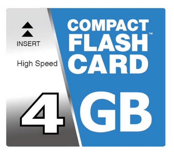 4 Go Compact Flash Compactflash Carte Mémoire Pour Canon Eos 400d