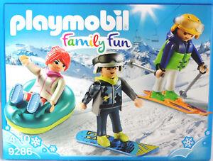 PLAYMOBIL-9286-Freizeit-WIntersportler-Sklifahrer-Snowboarder-Snowtube-Frau-NEU