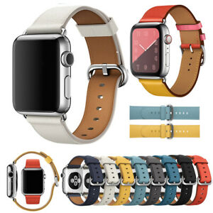 For-Apple-Watch-1-2-3-4-38-40-42-44mm-Genuine-Leather-iWatch-Strap-Wrist-Band