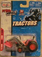 Maisto Fresh Metal Lil Farm Series Diecast Tractor w/Backhoe 2010 Scale 1:64