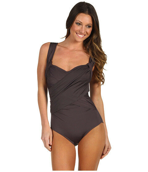 NWT cocoa  Badgley Mischka   swimsuit size 6