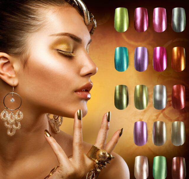 GELLARE IMPAX Platinum Metallic Manicure Soak Off UV LED Nail Gel Polish 12ml