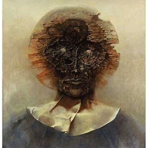 Beksinski Art Painting on canvas 23.6'' x 24.4'' LEGAL ...