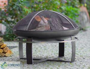 feuerschale mit funkenschutz feuerkorb grillfeuer. Black Bedroom Furniture Sets. Home Design Ideas