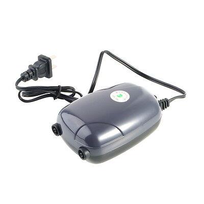 Two Outlets Adjustable Air Pump 120 Gal Aquarium 48GPH 220V KK