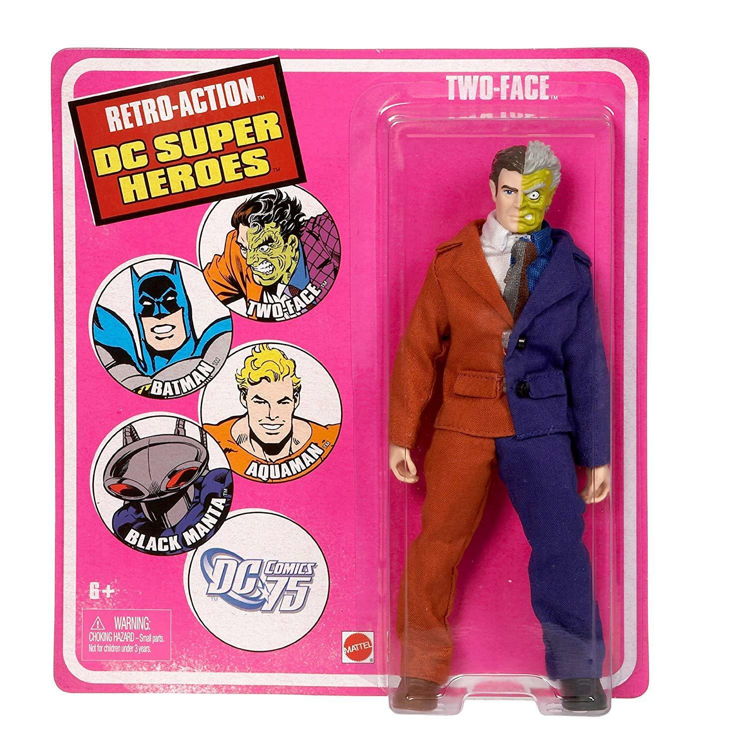 Two-Face Retro Action DC Super Heroes Action Figure by Mattel NIB 2010