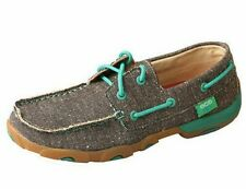 Women/'s Twisted X Slip-on Driving Moc-Dust w//Turquoise Style WDM0085