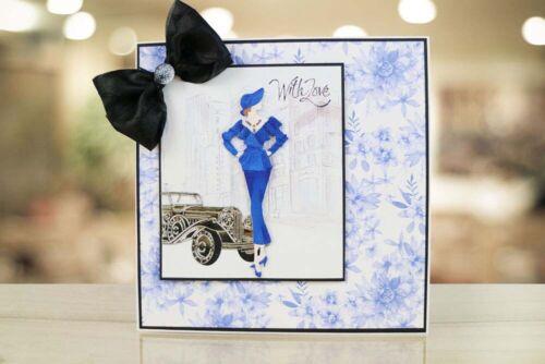 Nuevo jirones de encaje Jacqueline Art Deco Dama Corte Die TLD0028