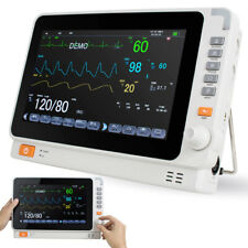 "10"" FDA Vital Sign Dental Medical Patient Monitor ECG NIBP RESP TEMP SPO2 PR"