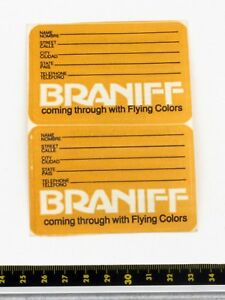 Braniff International - Marron Bagages Autocollants X 2 - Années 1980 6qgtydal-07235315-442227265