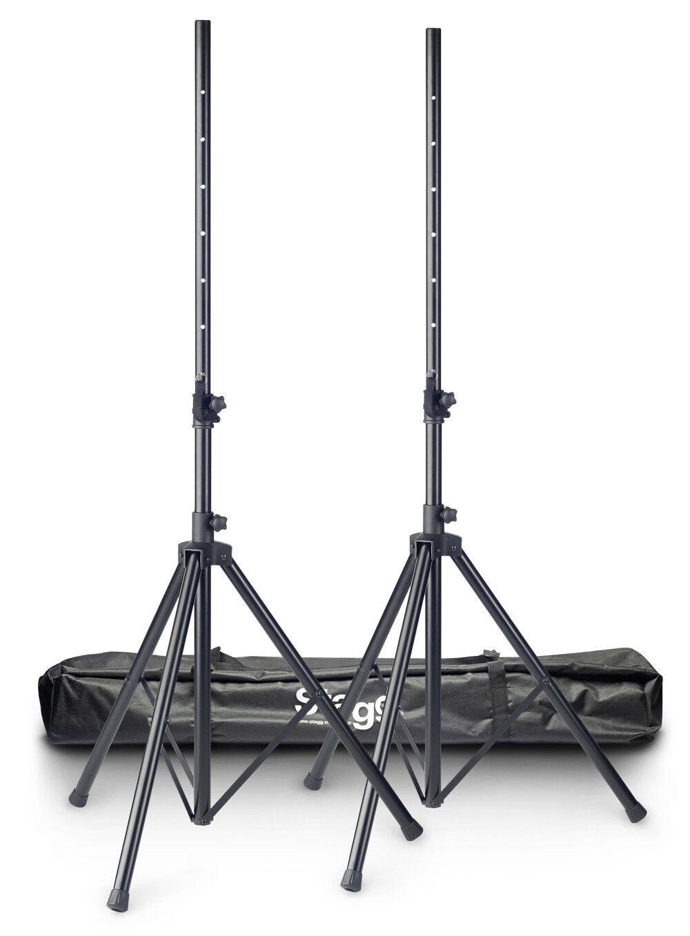 STAGG SPS10-AL BK Set Boxenstative inkl. Tasche