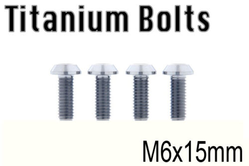 US Seller x4 Titanium Ti Bolt M6x15mm Trox Taper T30 M6 15L Bicycle Screw New