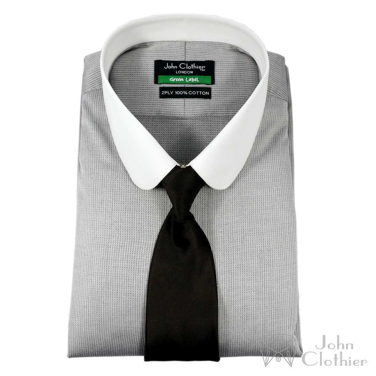Club Kragen Herren Bankier Formelles Hemd für Geschäft Wear Penny Baumwolle