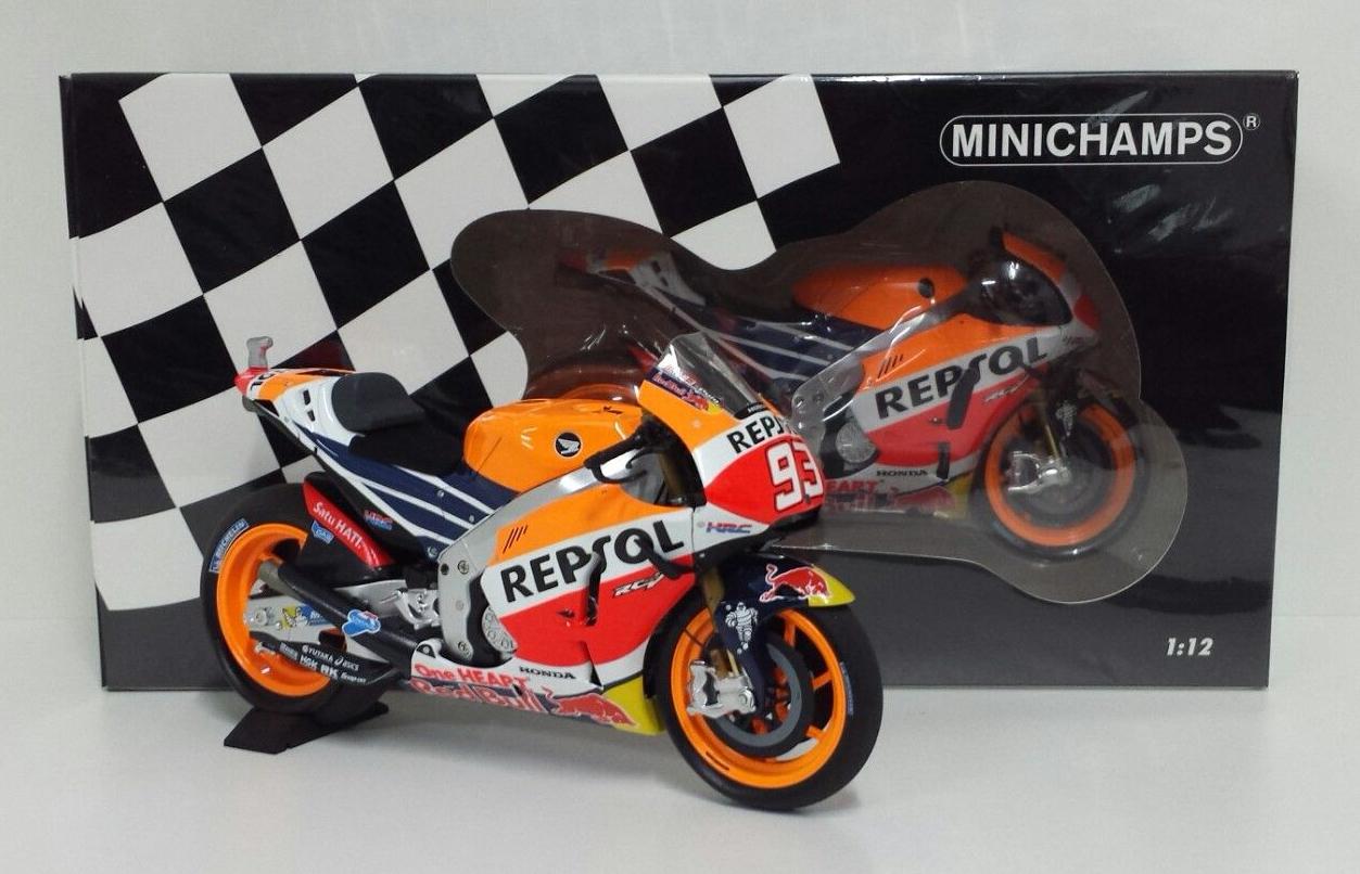 MINICHAMPS MARC MARQUEZ 1 12  93 MODÈLE HONDA REPSOL RC213V MOTOGP 2016 NEW