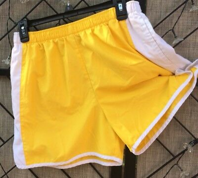 Clothing, Shoes & Accessories Nike Shorts Women's Elastic Athletic Running Track Fitness Yellow Waist 28-30 Fine Craftsmanship