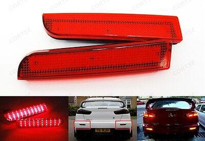 Mitsubishi Lancer Evo X Red Lens Bumper Reflector LED Tail Brake Stop Light CZ4A