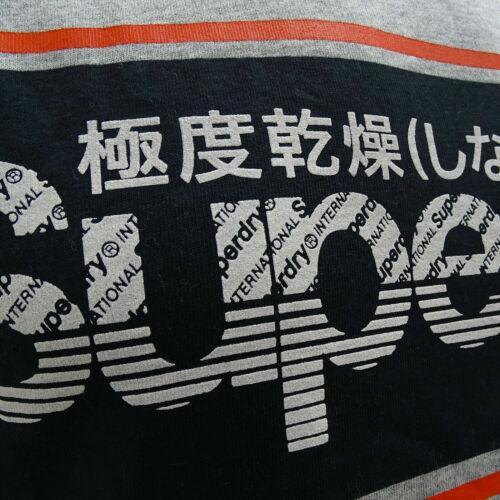 Superdry M10135TU 07Q Retro Sport Logo Tee Vintage T-Shirt Grey Marl