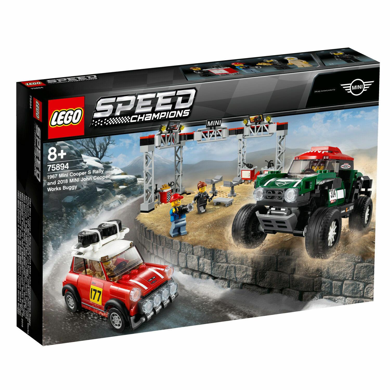 Lego Speed Campioni 75894 MINI COOPER S Rally e 2018 Mini John Cooper Passeggino
