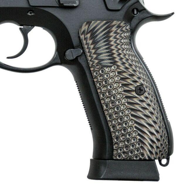 Guuun G10 CZ 75 Grips Thin OPS Texture Full Size CZ75 SP-01 Tactical Pistol  Grip