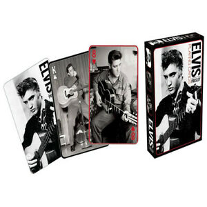 Aquarius-Elvis-Black-and-White-Designed-Enjoyably-Fun-Poker-Sized-Playing-Cards