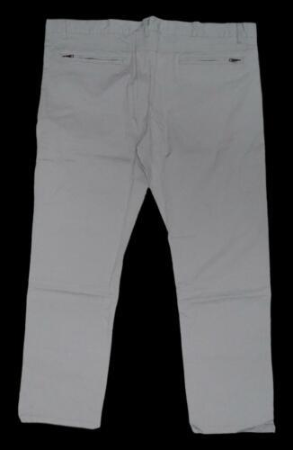 Neuf Grande Taille Hommes Stretch Pantalon Jeans Dans Kitt Hell Gris jambe Taille 62