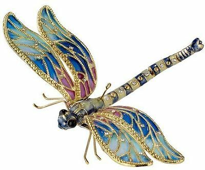 Dragonfly ornament.Cloisonne, articulated. Stunning !! Insect..