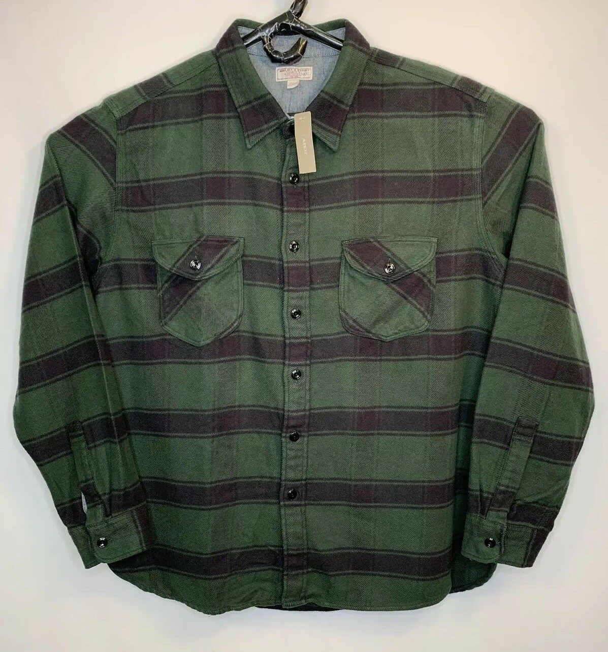 NEW Wallace & Barnes J Crew Men's 2XL XXL Heavyweight Plaid Flannel Shirt NWT