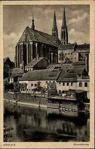Görlitz Sachsen s/w Ansichtskarte ~1920/30 Blick auf die Peterskirche ungelaufen