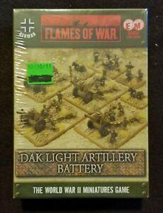 Flames of War German - GBX51 DAK Light Artillery Battery - OOP - EW/MW