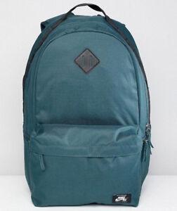d6fa073f20fa0 Image is loading Nike-SB-Icon-Dark-Green-Black-Skateboarding-Backpack-