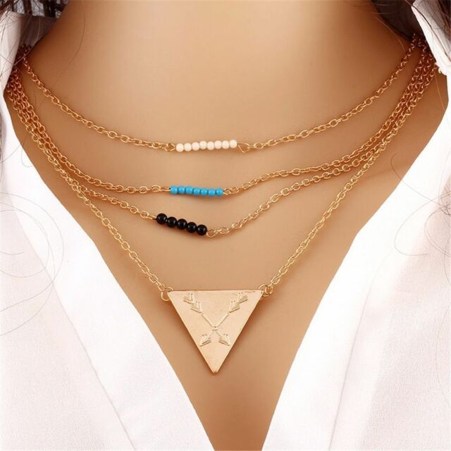 Fashion Charm Bib Pearl Crystal Statement Chunky Choker Chain Necklace Jewelry