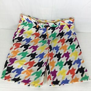 Mens-32-Golf-Shorts-Loudmouth-Razzle-Dazzle-Colorful-Stretch