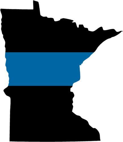"5/"" Minnesota MN State Thin Blue Line Police Sheriff SWAT Sticker Law Enforcement"